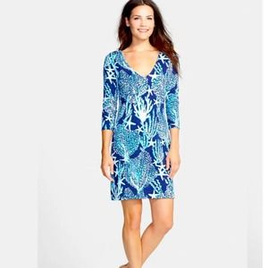 Lilly Pulitzer Clarke French Terry Dress Good Reef